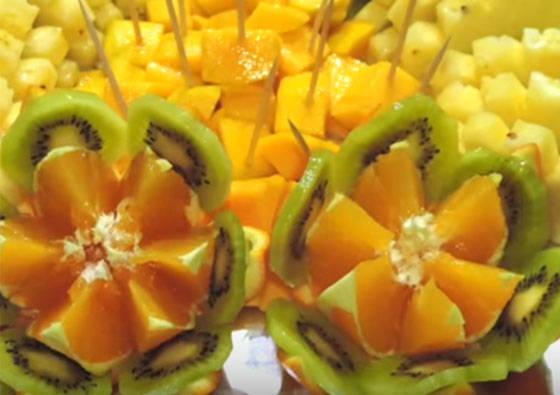 Vaisių patiekimas vaišių stalui (VIDEO)