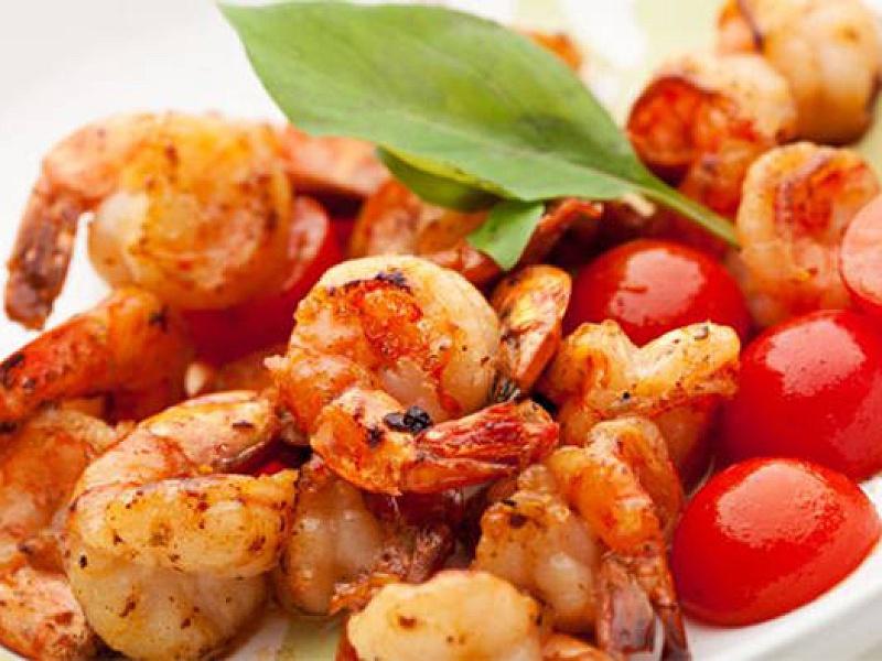 Svorio netekimas krevetės maišyti kepti, Kalorijų krevetės ir mitybos savybės
